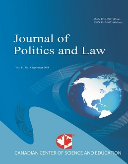 Journal of Politics and Law